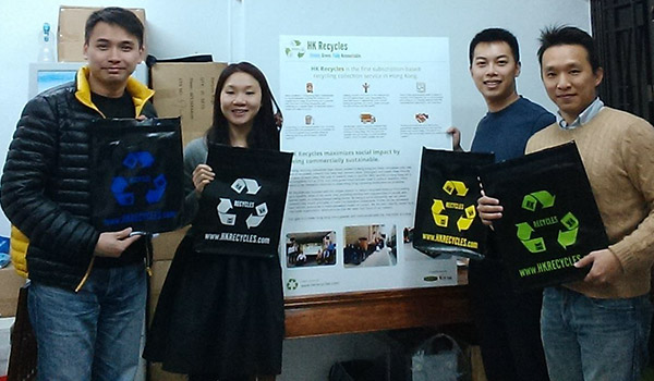 Our Knowledge Volunteer team shares business advice with HK Recycles.